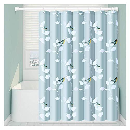 WMYATING Las cortinas de ducha tienen varios estilos, cortinas de ducha t cortina de ducha de tela de poliéster impermeable con ojales colgantes elegantes cortinas de ducha, azul, 8 tamaños