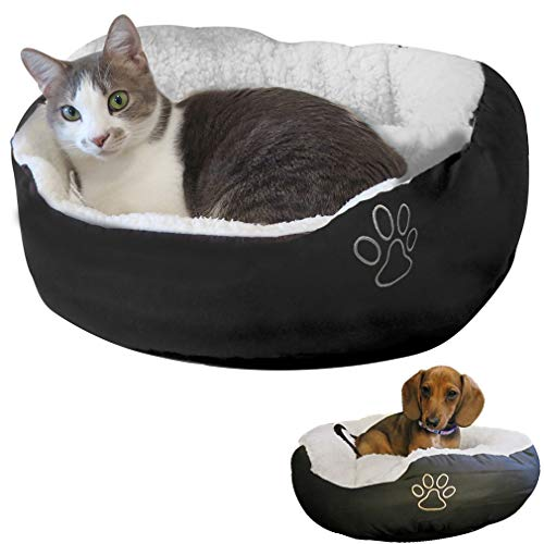 Evelots Pet Bed-Cat/Small Dog-Most Comfy-Very Thick/Soft-Easy Washing-2 Colors