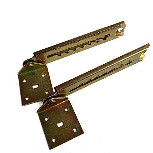 LNIMIKIY Barra de elevación de 1 par de bisagras de ángulo para el hogar práctico con soporte reposacabezas de escritorio duradero ajustable sofá cama 7 engranajes accesorios de hardware
