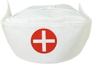 U.S. Toy Adult Women's Nurse Hat Costume Bonnet White