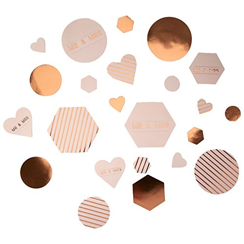 Neviti Geo Blush-Tischstreukonfetti, Papier, 5 x 5 x 0.1 cm