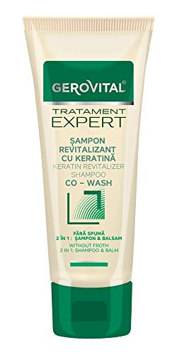 Gerovital Tratament Expert, CHAMPÚ REVITALIZADO CON KERATINA CO-WASH, 150 ml