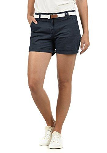 DESIRES Chanett Damen Chino Shorts Bermuda Kurze Hose mit Gürtel Stretch, Größe:38, Farbe:Insignia Blue (1991)