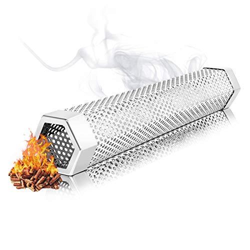 Tubo Fumatore A Pellet Freddo Caldo di Fumo Barbecue Affumicatore Tubo in Pellet in Acciaio Inox Smoker Griglia per Barbecue Generator per Le Griglie Elettriche, A Gas, Carbone O per Fumatori—Hexagon