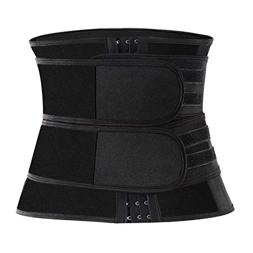 Waist Trainer for Women workout,Corset Waist Trainer for Women Weight Loss Everyday Wear,Neoprene Sweat Waist Cincher Trimmer Slimmer Body Shaper Belt Adjustable Sport Weight Loss Lose Belly Fat S
