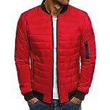 Autumn Winter Men Lightweight Windproof Packable Jacket,Style2 red,XXL