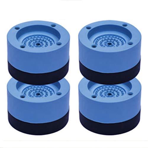 4pcs Lave-Linge Universel Anti-Vibrations pour Machine à Laver, sèche-Linge, Tapis de Lavage, Plateau, Support stabilisateur, Pied pour Anti-Vibration et Anti-Marche(7x 4 cm) (Bleu)