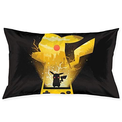 xuexiao Funda de almohada de monstruo del bolsillo amarilla, tamaño de 50 x 70 cm, para el hogar, cama, habitación, funda de almohada decorativa