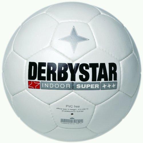 Derbystar Fussball Indoor Super, Weiss