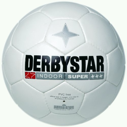 Derbystar Fussball Indoor Super, Weiss