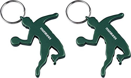 munkees 2 x Schlüsselanhänger Handballer I Handball-Anhänger I integrierter Flaschenöffner I Doppelpack Grün, 349859