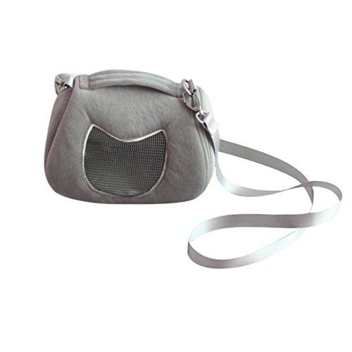 JEELINBORE Tragetaschen für Kleintiere Hamster Tasche Transportbox Ratte Frettchen Handtasche Tragbare Reisetasche (Grau, 17 * 12 * 11cm)