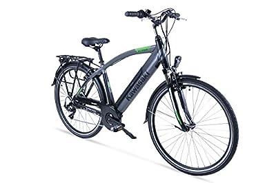 Kawasaki Herren XciteRC Trekking-Bike Fahrrad, schwarz-Silber, 53 cm
