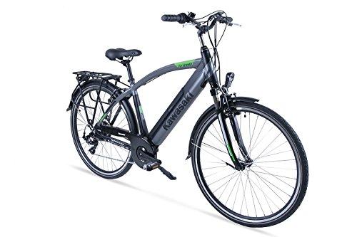 Kawasaki Herren XciteRC Trekking-Bike Fahrrad, schwarz-Silber, 48 cm