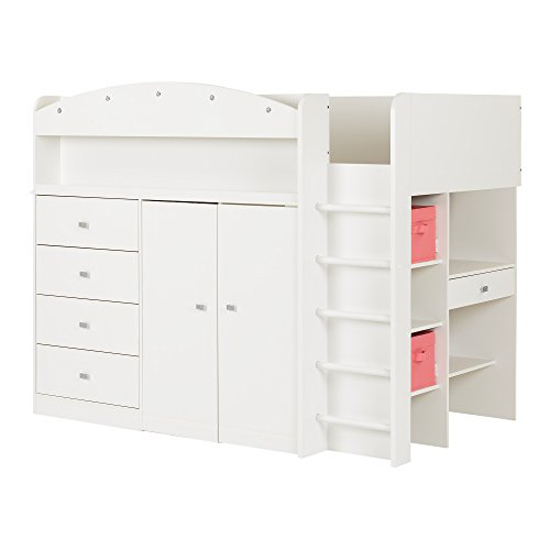 South Shore Tiara Loft Bed with Desk, Twin
