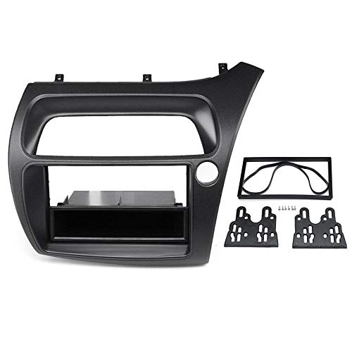 RHD 1 o 2 DIN Car Radio Fascia Fascias Panel Frame CD DVD Dash Audio Interior Cubierta embellecedora Ajuste para Honda para Civic 2006 2007-2011