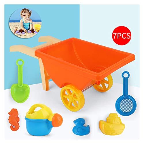 Strand speelgoed, met inbegrip van strand water tankers, karren, zandvormen, emmers, schoppen zand kits, zand peuters speelgoed (buiten spelen) (met inbegrip van een bagagenet zak),Orange