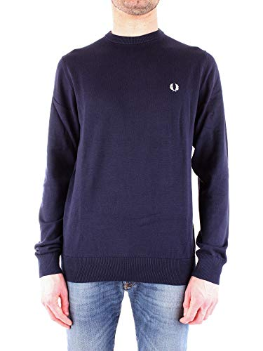 Luxury Fashion | Fred Perry Heren K5523E97 Donkerblauw Katoen Truien | Seizoen Outlet
