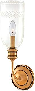 Hudson Valley Lighting 291-AGB One Light Wall Sconce from the Lafayette collection 1, Aged Brass