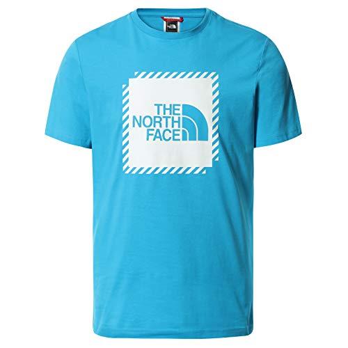 The North Face – Maglietta da Uomo a Maniche Corte Graphic 2 – Maglietta Standard con Collo Rotondo - Meridian Blue, L
