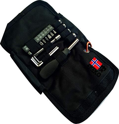 Estuche set de Herramientas Ekeko tool kit essential. Practico set de herramientas para cualquier emergencia en el hogar, coche, autocaravana. Salidas al campo.