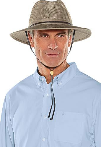 Coolibar Chapeau de Protection UV UPF 50 Plus écrasable ventilé pour Homme Taille S/M 44-46