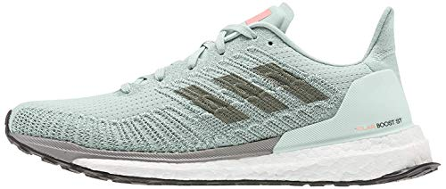 Adidas Solar Boost ST 19 W, Zapatillas Running Mujer, Morado (Green Tint/Dove Grey/Signal Coral), 37.33 EU