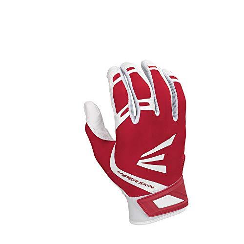 Easton ZF7VRS hyperskin Fastpitch Batting Handschuhe, Herren, weiß/rot