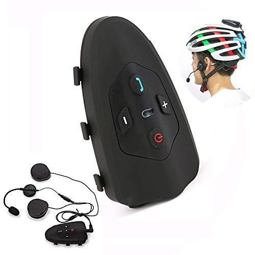 LNLJ Profession Bluetooth Intercomunicador Auricular para Casco de bicicleta, Sistema de Comunicación Inalámbrico Soporte 2 Riders, Impermeable IP65 Talking Range 1200M, VOX, 1 unidad., L