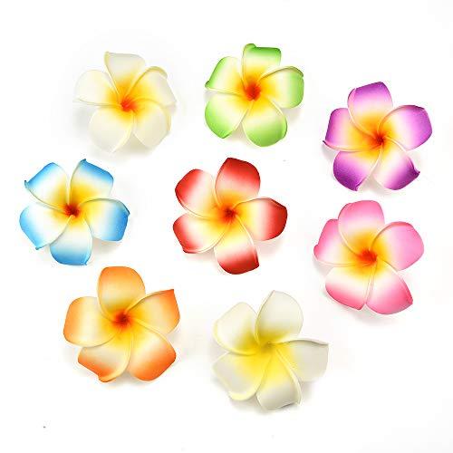 NWSX - Flores artificiales para manualidades (20 unidades), diseño de flores artificiales de espuma de polietileno hawaiana, para decoración de bodas, fiestas, 7 cm