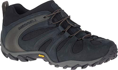 Merrell Mens CHAM 8 Stretch Hiking Shoe, Black,10.5