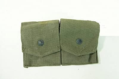 Ultimate Arms Gear Military Ammo OD Olive Drab Green Canvas Pouch Surplus Fits Mosin Nagant M38 M44 91/30 1891 91 30 7.62x54 Cartridge Clips Ammunition Rounds Dual Pouches