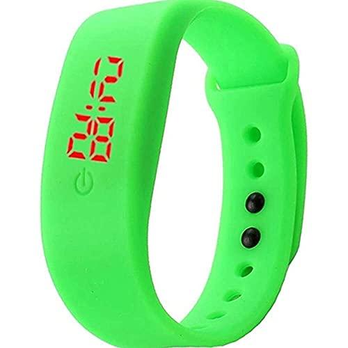 junmo shop Pulsera de silicona unisex con pantalla digital LED, reloj deportivo para niños y niñas