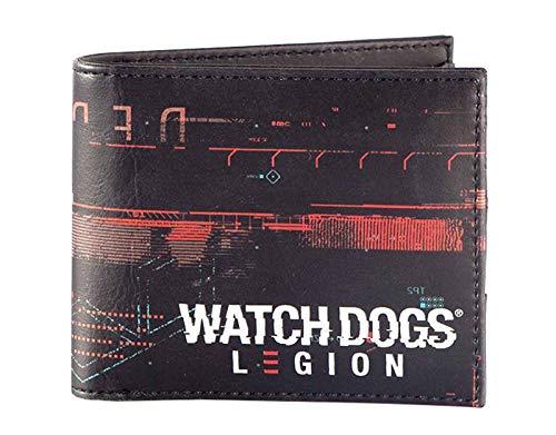 Difuzed Herren Watch Dogs Legion Glitch Logo Print Wallet Reisezubehör- Bi-Fold-Brieftasche, Mehrfarbig, Einheitsgröße