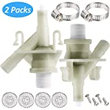 Plastic Water Valve Kit 385311641 for 300 310 320 Series Compatible with Sealand Marine Toilet Replacement and F300/F310 Toilet Water Valve Replacement (2 Pieces)