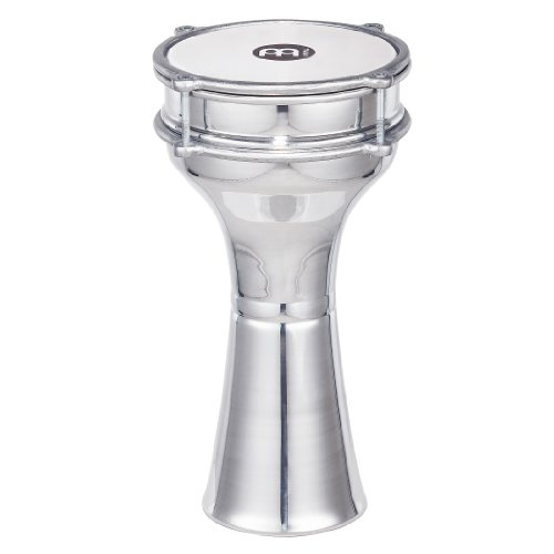 """Meinl Percussion Darbuka with Plain Aluminum Shell - MADE IN TURKEY - 6 1/2"""" Tunable Synthetic Head, 2-YEAR WARRANTY (HE-102)"""