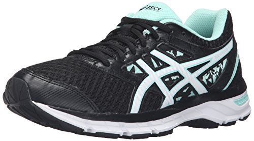 ASICS Women's Gel-Excite 4 running Shoe, Black/White/Mint, 9.5 Wide