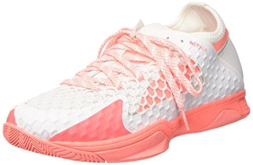 Puma Damen Evospeed Indoor Netfit 3 Wn's Multisport Schuhe, Weiß (White-Nrgy Peach), 38 EU
