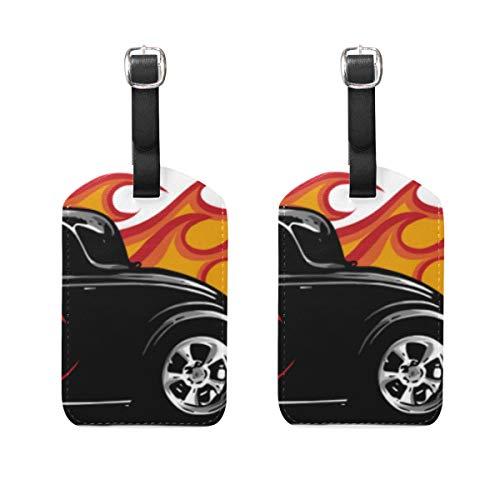 VORMOR Gepäckanhänger (Sortiert, 2 PK),Oldtimer Hot Rod Garage Hotrods, Gepäckanhänger, Kofferanhänger für Rucksäcke