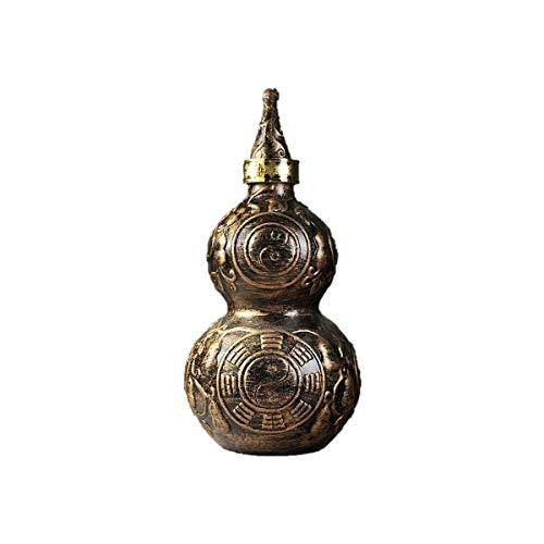 XIAONINGMENGDIAN Keramik-Kürbis Flasche, Sealed-Hüfte-Flasche, im chinesischen Stil, 500ml, 1500ml, 2500ml Weinzubehör (Color : Brown, Size : 1.5L)
