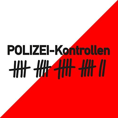 Polizeikontrolle Aufkleber, Art, Größe und Farbe WÄHLBAR - Sticker Polizei Polizeikontrollen Decal Shocker OEM Dub Tuning