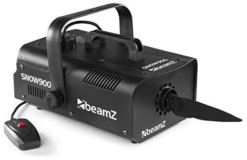 beamZ SNOW 900 • Schneemaschine • 900 Watt • 1-Liter Tank • Kabelfernbedienung • silber/schwarz