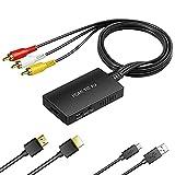 EASYCEL - Convertidor de HDMI a RCA, convertidor HDMI RCA a compuesto, convertidor de HDMI a AV CVBS para PS3/PS4/DVD/Amazon Fire Stick
