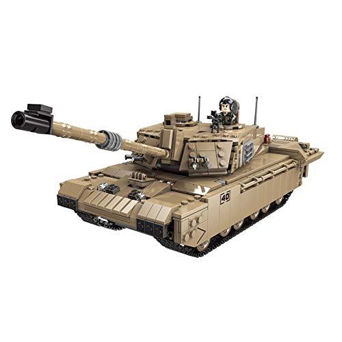 Technik Panzer Bausteine Bausatz, UK Challenger 2 Militär Panzer Modell, 1441 Klemmbausteine Und Minifiguren,...