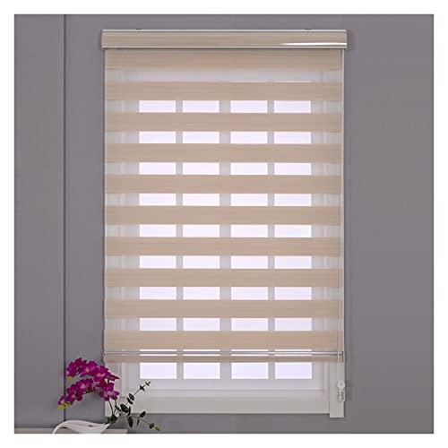 Fensterrollos, Lichtsteuerung Jalousie Zum Zuhause Büro Kindergarten, Verdunkelung Sichtschutzvorhang, Anpassbar (Color : A, Size : 55x200cm)