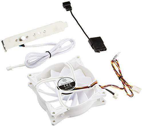 SilverStone SST-FM93 - FM Serie geräuscharmer 90 mm Hochleistungs-Gehäuselüfter mit externer silberner Lüftersteuerung, weiß