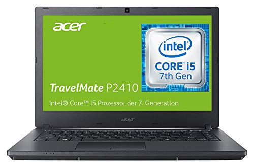 Acer TravelMate P2410 (TMP2410-M-598R) 35,6 cm (14 Zoll Full-HD IPS matt) Business-Laptop (Intel Core i5-7200U, 8 GB RAM, 256 GB SSD + 1000 GB HDD, Intel HD, Win 10 Pro) schwarz