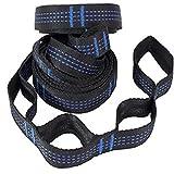 Árbol Swing Tie Cuerda Hamaca Correas Al Aire Libre de trabajo pesado Cinturón Colgante Cinturón Portátil Blanco Cuerda Azul Azul 2pcs