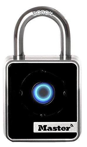 Master Lock 4400D Indoor Bluetooth Smart Padlock, 2-Inch Wide Body, 7/8-Inch Shackle Height, 9/32-Inch Diameter Shackle