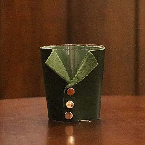 Simplicité Costume Verre Crystal Verre Coaster MUMUJIN (Color : Green)
